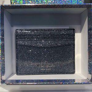 Kate Spade Lola Glitter Silver Cardholder
